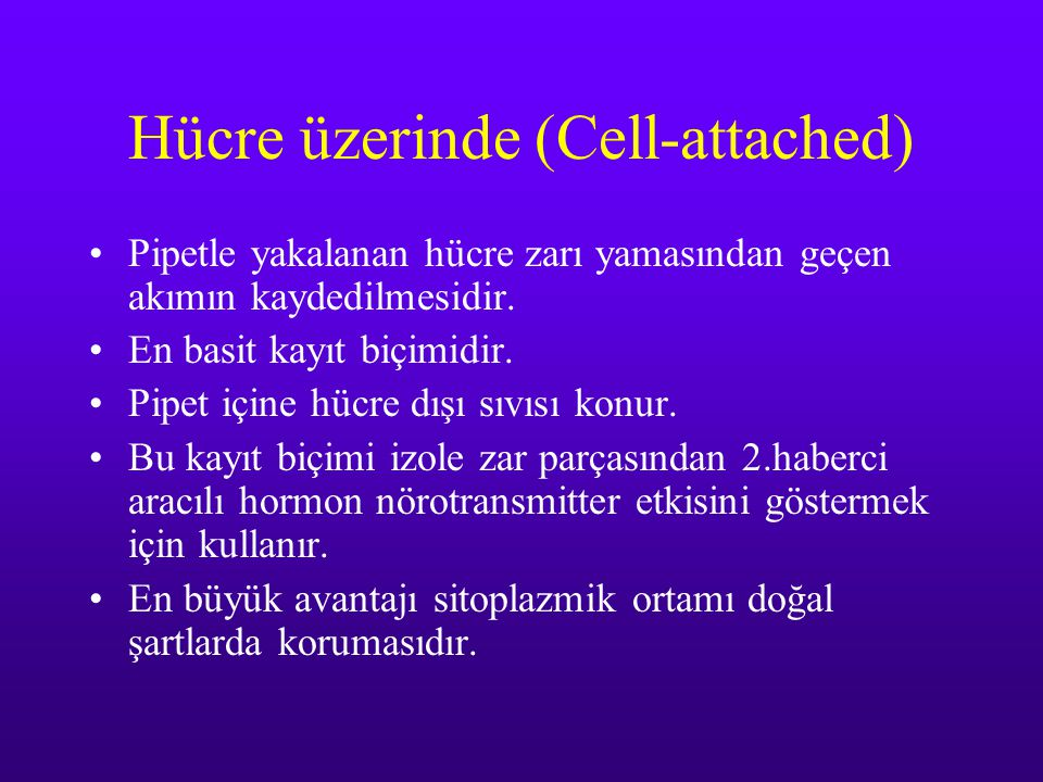 Hücre üzerinde (Cell-attached)