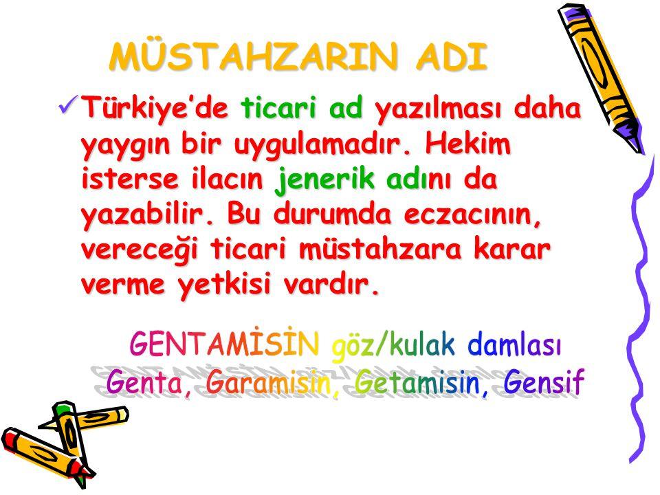 GENTAMİSİN göz/kulak damlası Genta, Garamisin, Getamisin, Gensif