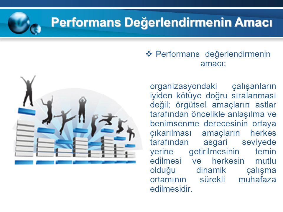 Performans Değerlendirmenin Amacı