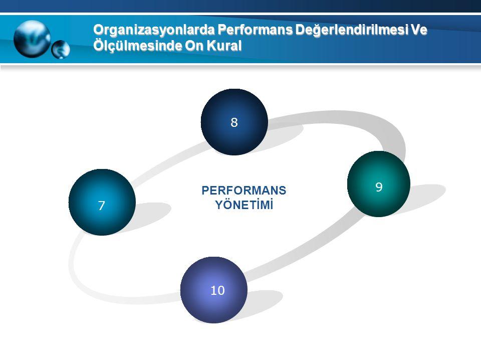 Organizasyonlarda Performans Değerlendirilmesi Ve Ölçülmesinde On Kural