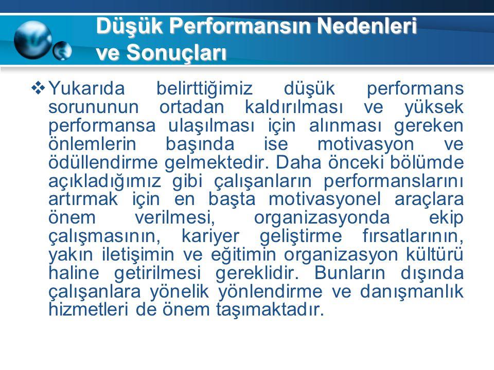 Düşük Performansın Nedenleri ve Sonuçları