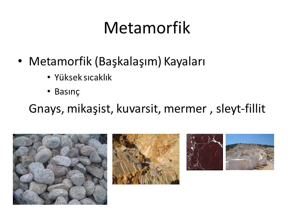 Metamorfik Metamorfik (Başkalaşım) Kayaları