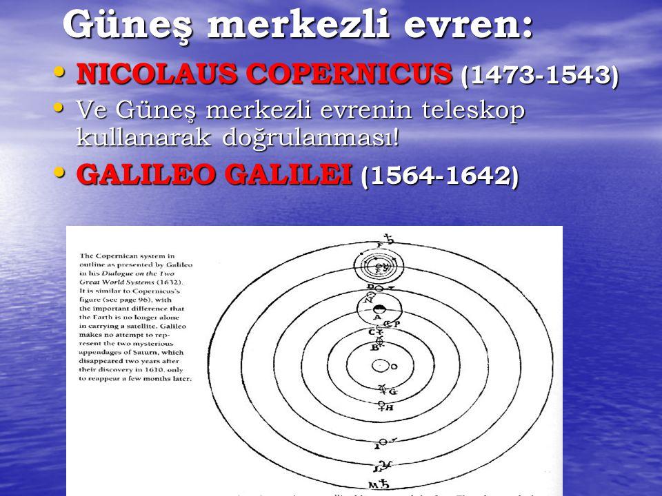 Güneş merkezli evren: NICOLAUS COPERNICUS (1473-1543)