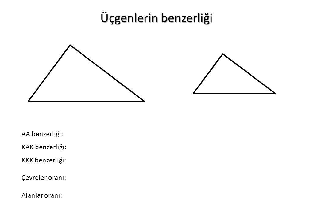 Üçgenlerin benzerliği