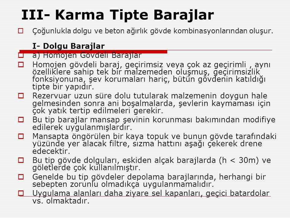 III- Karma Tipte Barajlar