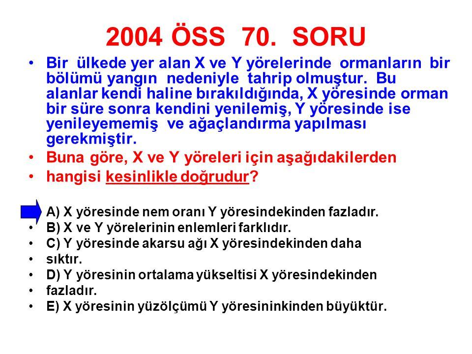 2004 ÖSS 70. SORU