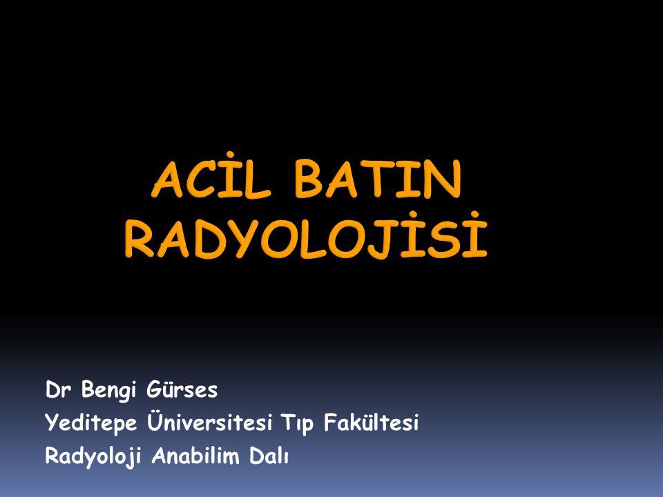 ACİL BATIN RADYOLOJİSİ
