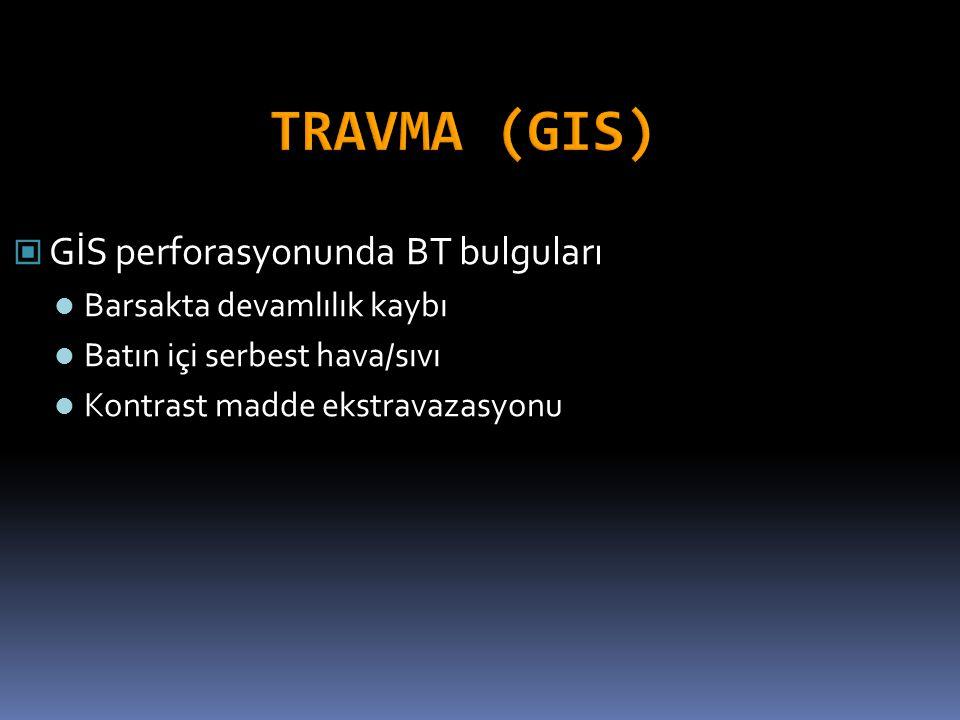 TRAVMA (GIS) GİS perforasyonunda BT bulguları