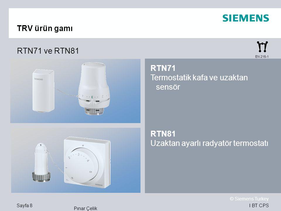 Termostatik kafa ve uzaktan sensör