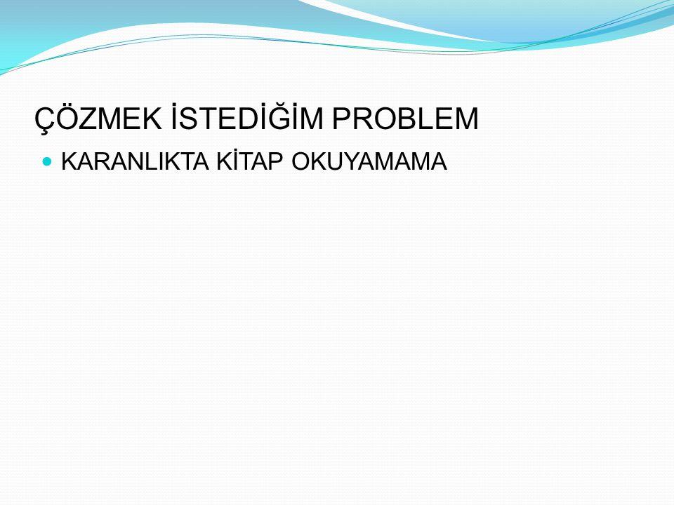 ÇÖZMEK İSTEDİĞİM PROBLEM