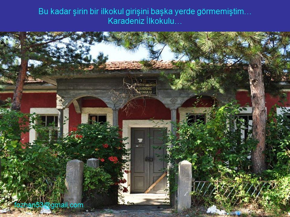 Bu kadar şirin bir ilkokul girişini başka yerde görmemiştim… Karadeniz İlkokulu…