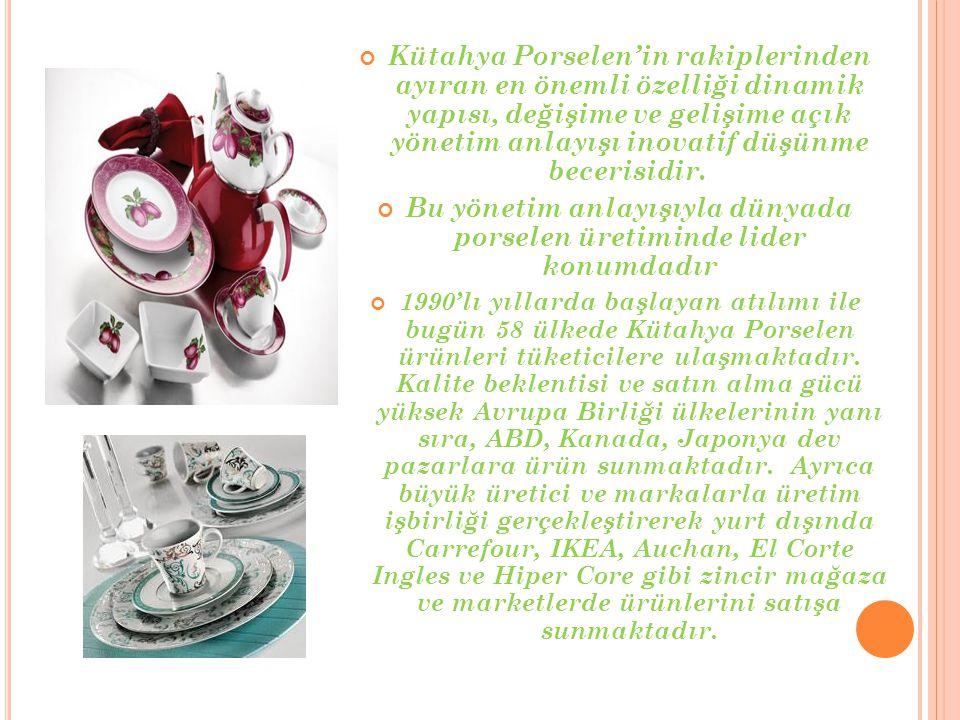 Bu yönetim anlayışıyla dünyada porselen üretiminde lider konumdadır