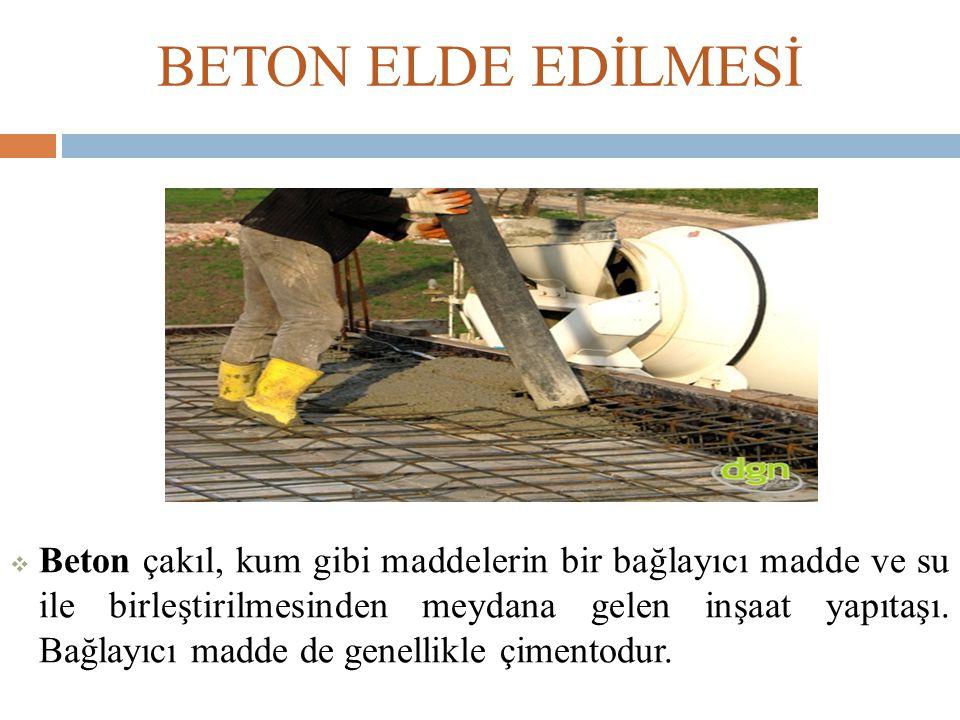 BETON ELDE EDİLMESİ