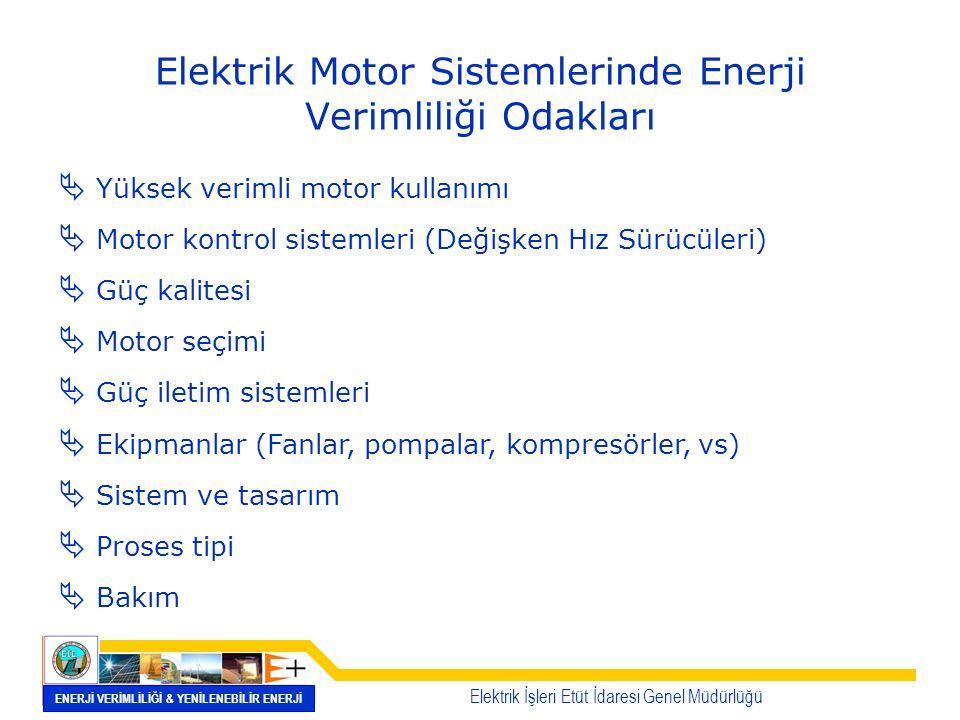 Elektrik Motor Sistemlerinde Enerji Verimliliği Odakları