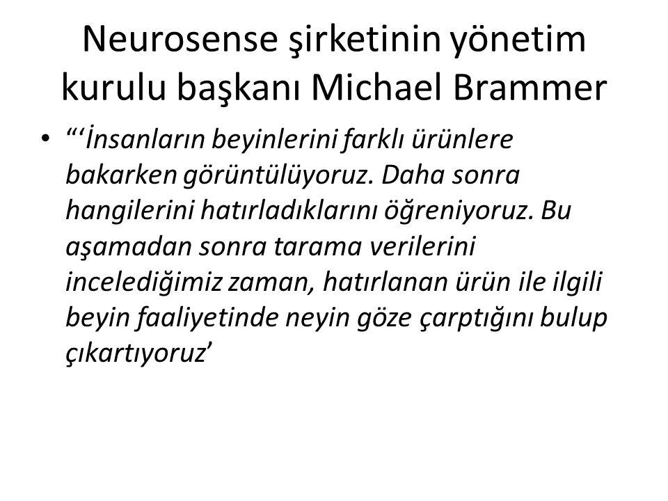 Neurosense şirketinin yönetim kurulu başkanı Michael Brammer