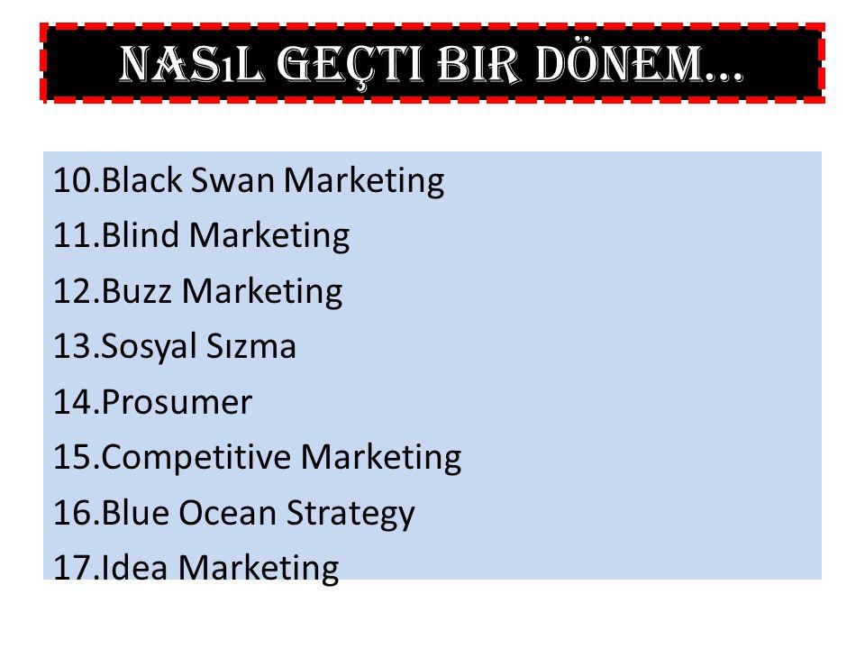Nasıl Geçti Bir Dönem… Black Swan Marketing Blind Marketing