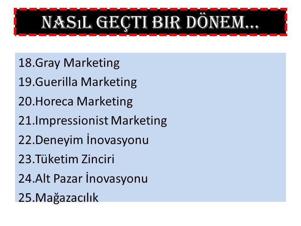 Nasıl Geçti Bir Dönem… Gray Marketing Guerilla Marketing