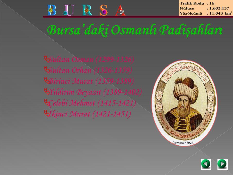 Bursa'daki Osmanlı Padişahları