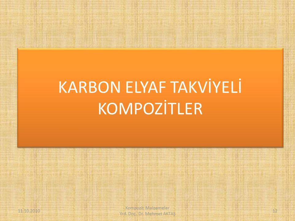 KARBON ELYAF TAKVİYELİ KOMPOZİTLER