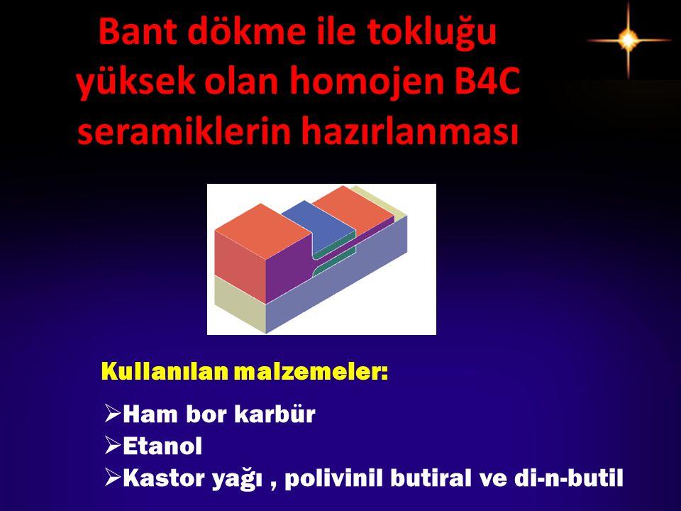 Kullanılan malzemeler: