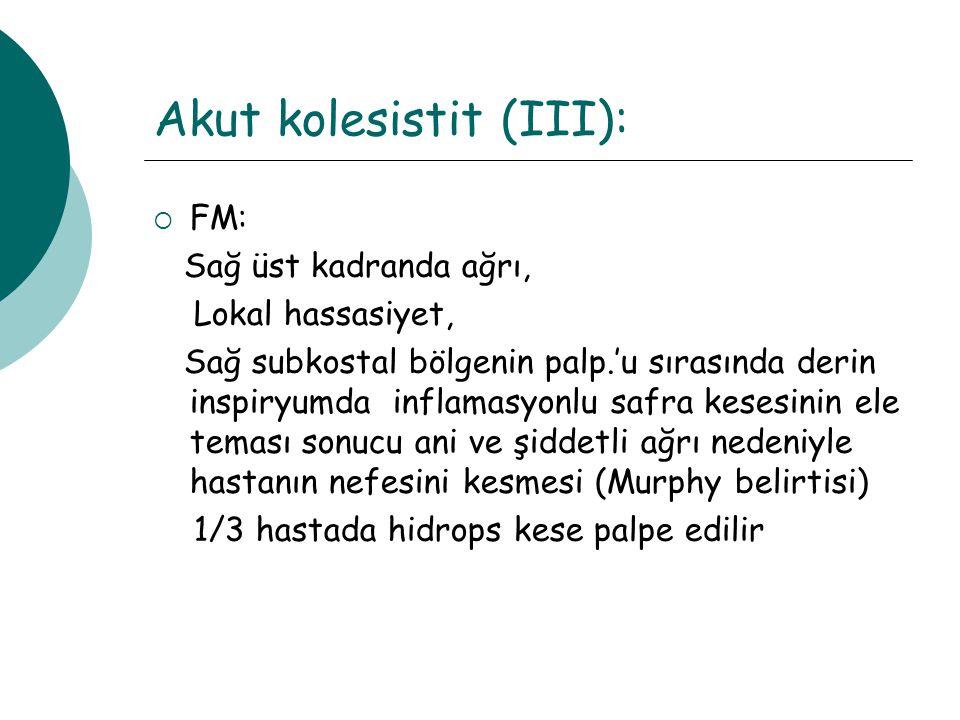 Akut kolesistit (III):