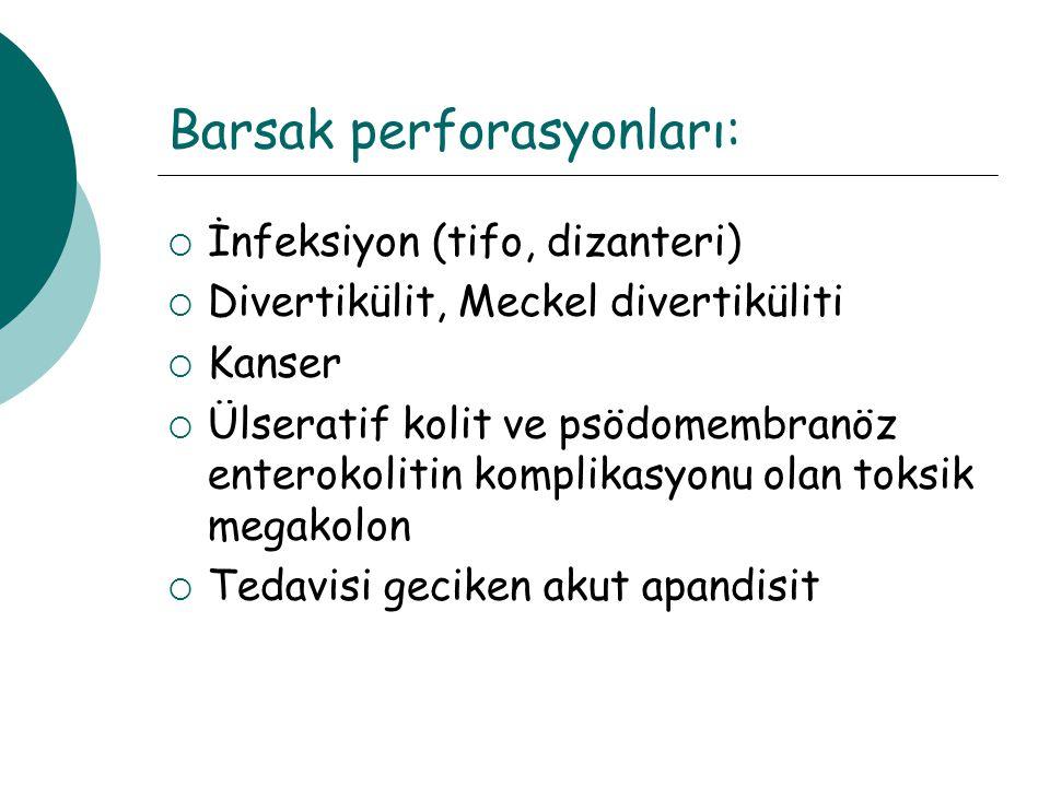Barsak perforasyonları: