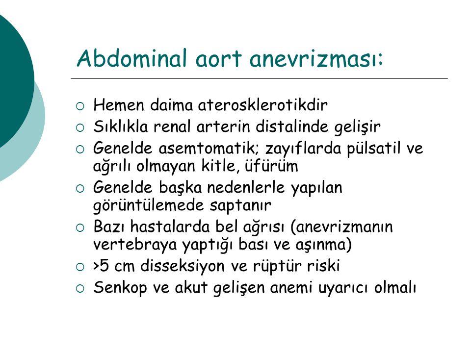 Abdominal aort anevrizması: