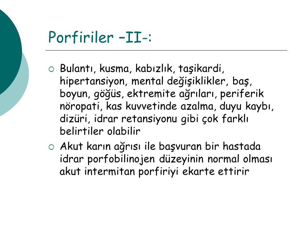 Porfiriler –II-: