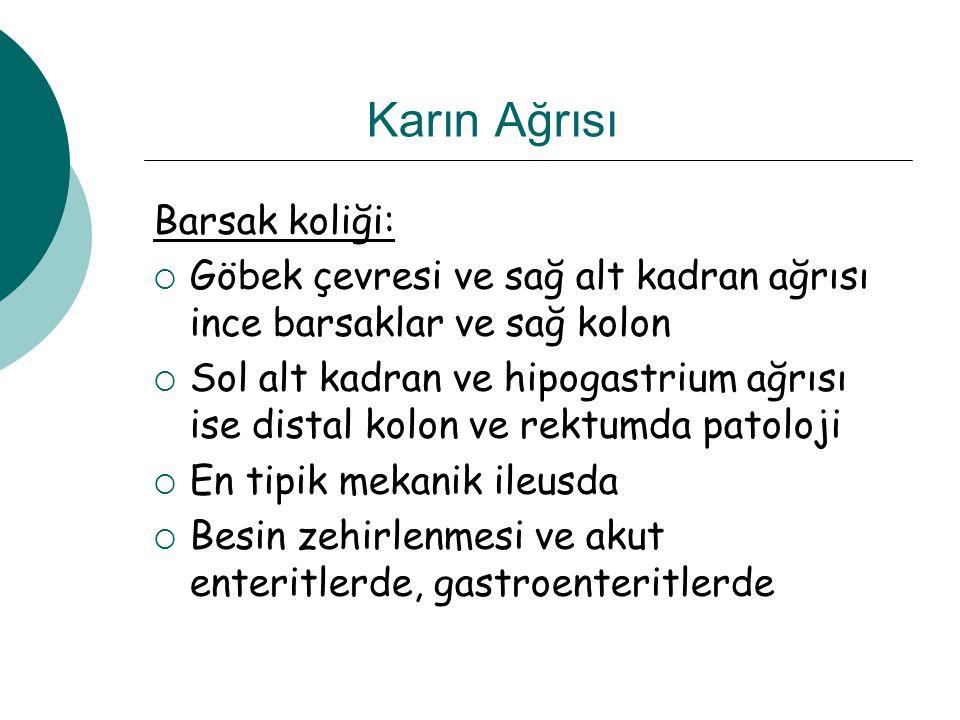 Karın Ağrısı Barsak koliği: