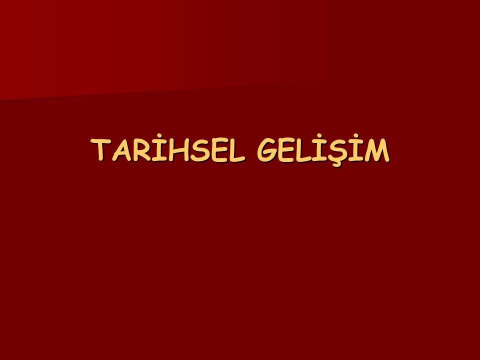 TARİHSEL GELİŞİM