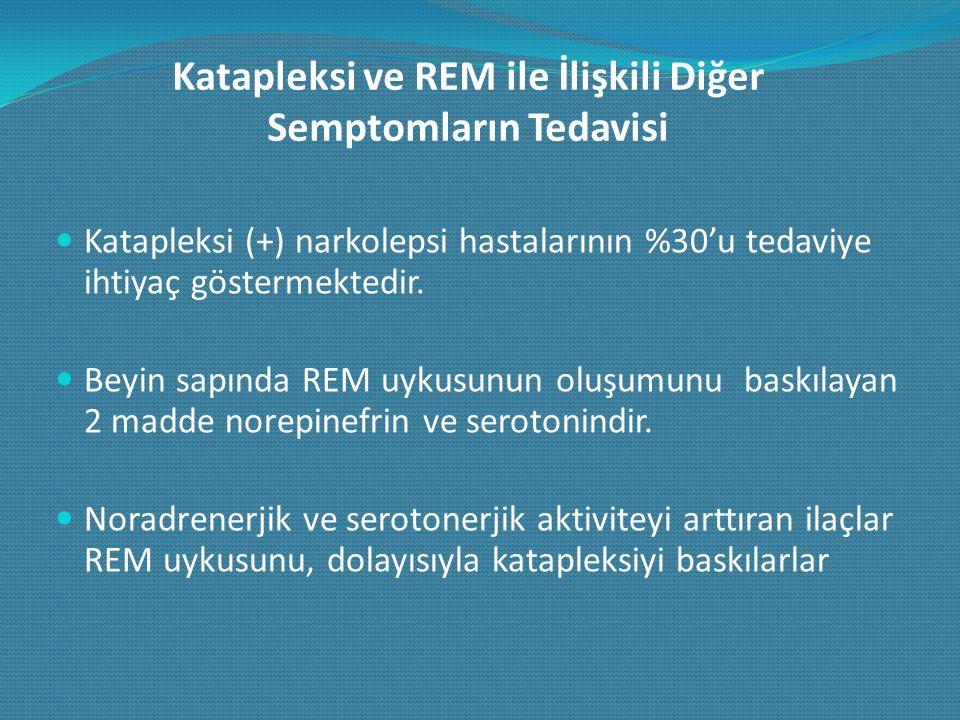 Katapleksi ve REM ile İlişkili Diğer Semptomların Tedavisi
