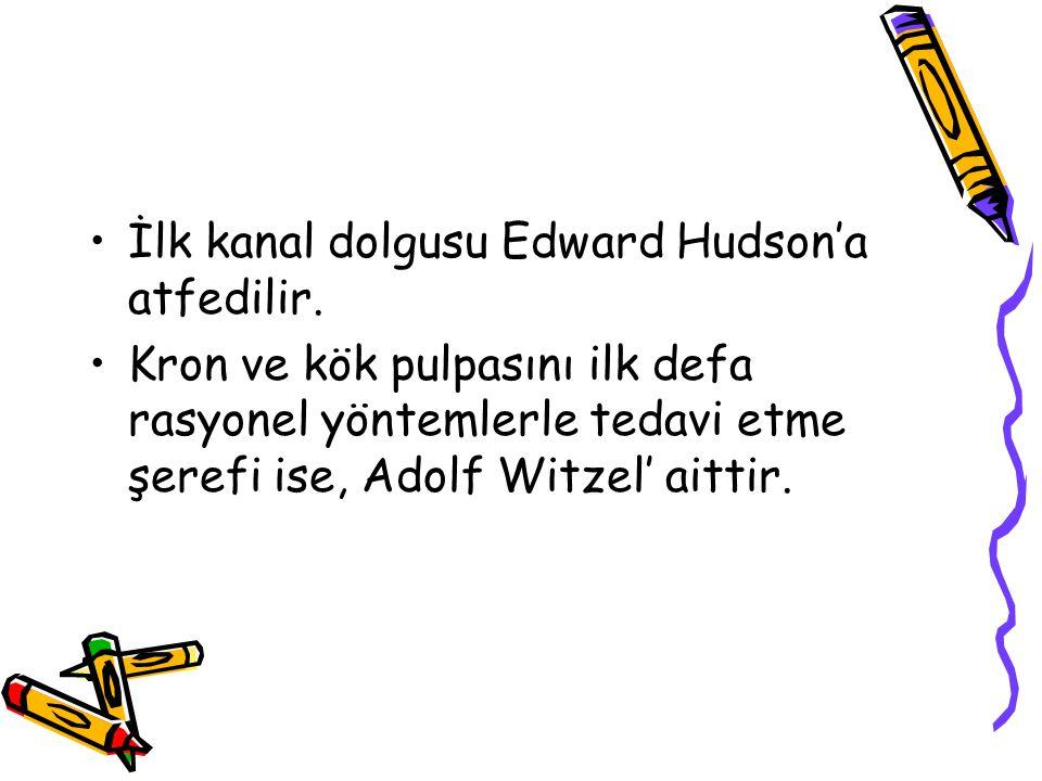İlk kanal dolgusu Edward Hudson'a atfedilir.