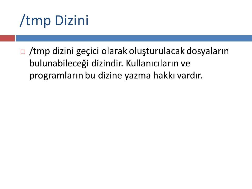 /tmp Dizini