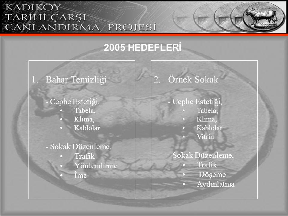2005 HEDEFLERİ Bahar Temizliği 2. Örnek Sokak - Cephe Estetiği,