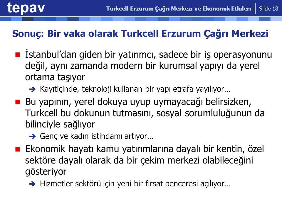 Sonuç: Bir vaka olarak Turkcell Erzurum Çağrı Merkezi