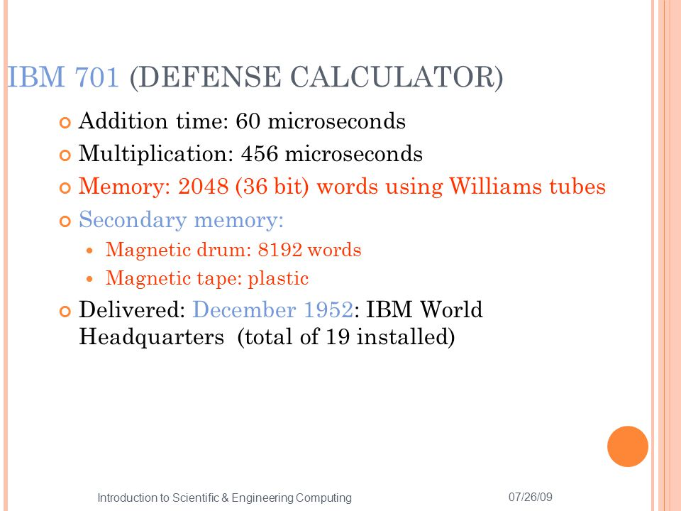 IBM 701 (DEFENSE CALCULATOR)