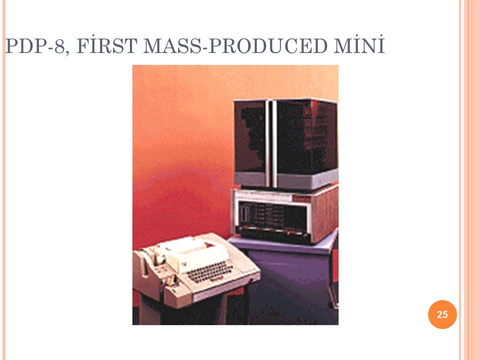 PDP-8, FİRST MASS-PRODUCED MİNİ