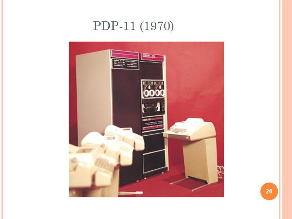 PDP-11 (1970) 26