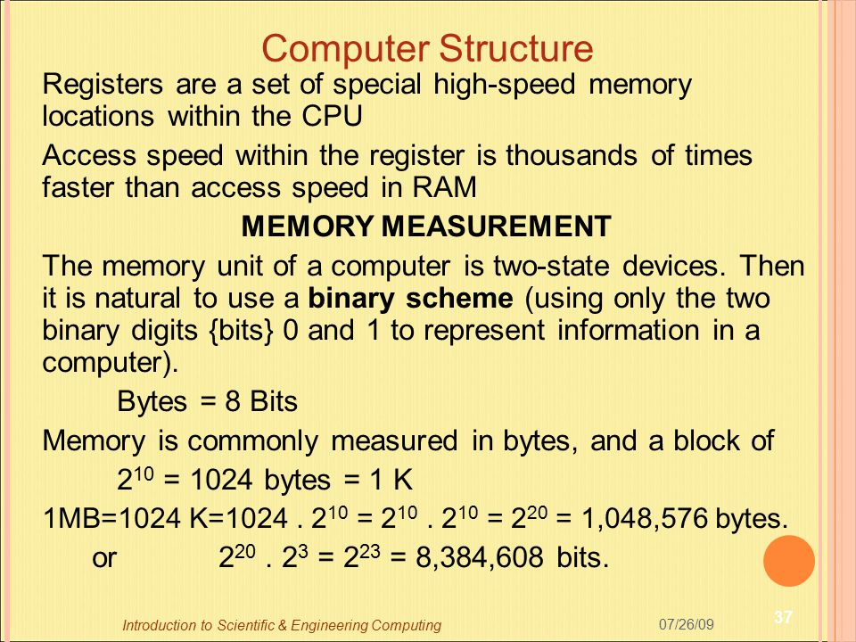 Computer Structure Registers are a set of special high-speed memory locations within the CPU.