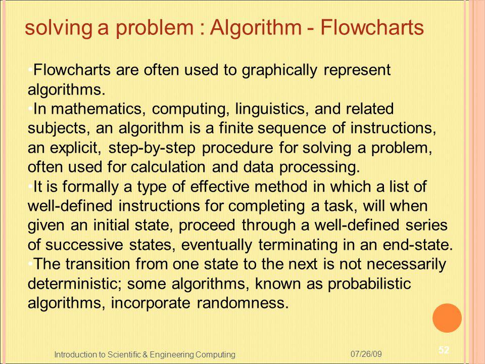 solving a problem : Algorithm - Flowcharts