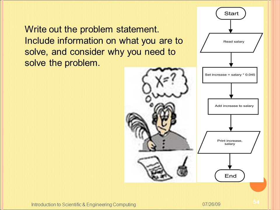 Write out the problem statement