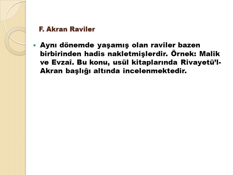 F. Akran Raviler