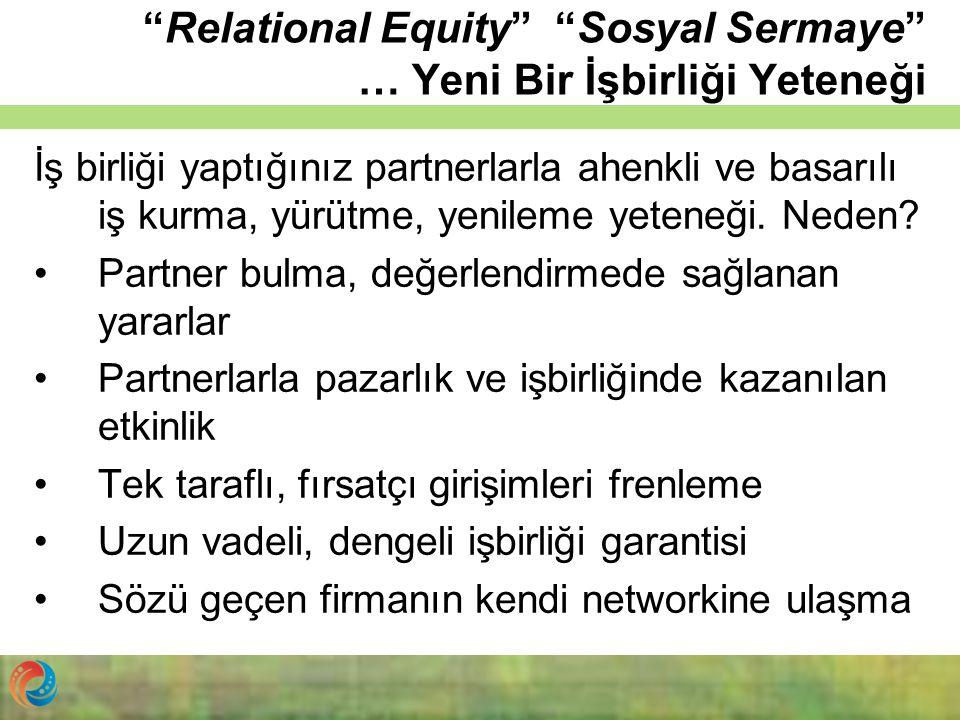 Relational Equity Sosyal Sermaye … Yeni Bir İşbirliği Yeteneği