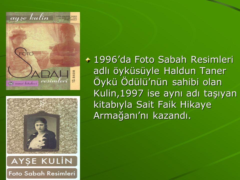 1996'da Foto Sabah Resimleri adlı öyküsüyle Haldun Taner Öykü Ödülü'nün sahibi olan Kulin,1997 ise aynı adı taşıyan kitabıyla Sait Faik Hikaye Armağanı'nı kazandı.