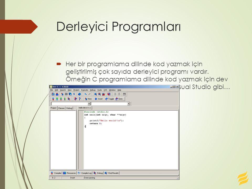 Derleyici Programları