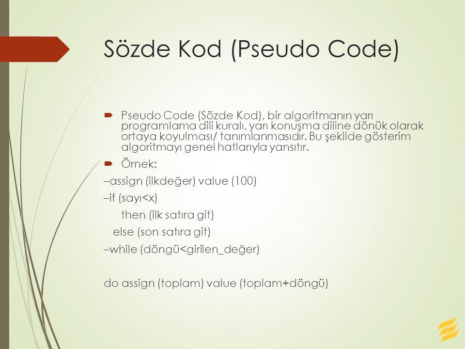 Sözde Kod (Pseudo Code)
