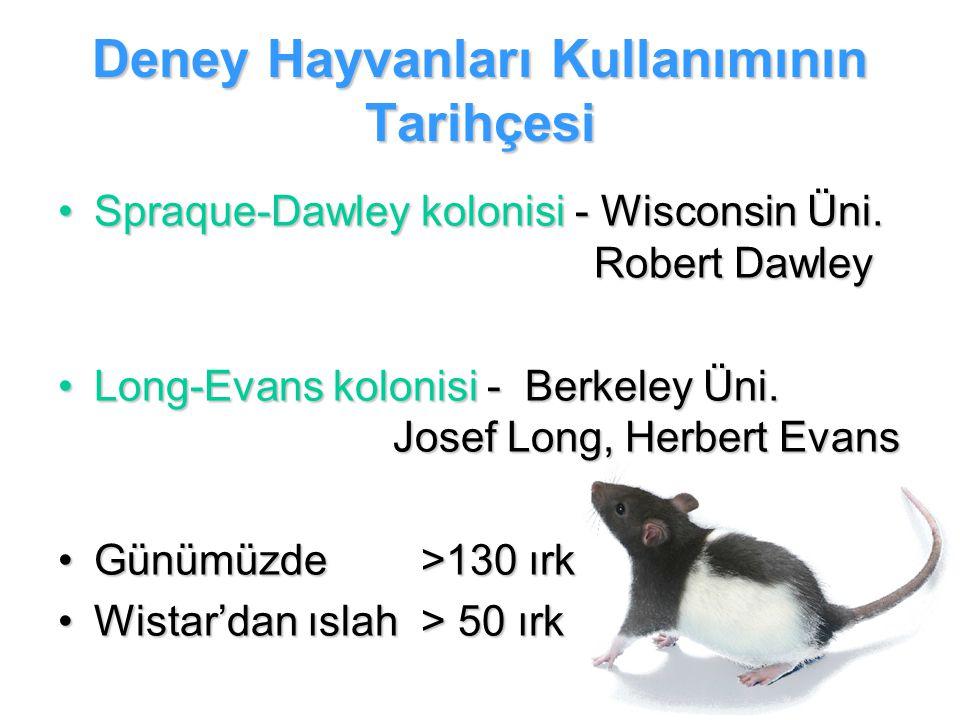 Deney Hayvanları Kullanımının Tarihçesi