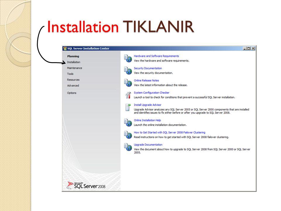 Installation TIKLANIR