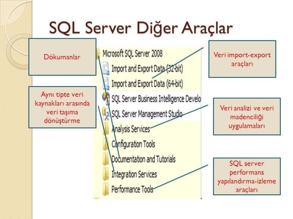 SQL Server Diğer Araçlar
