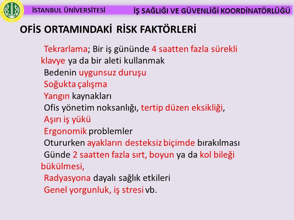 OFİS ORTAMINDAKİ RİSK FAKTÖRLERİ